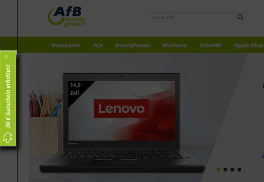 AfBshop 30 Euro Willkommens-Gutschein