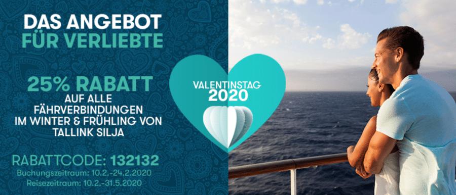 Tallink Gutscheine: beispielhafte Rabattaktion zum Valentinstag