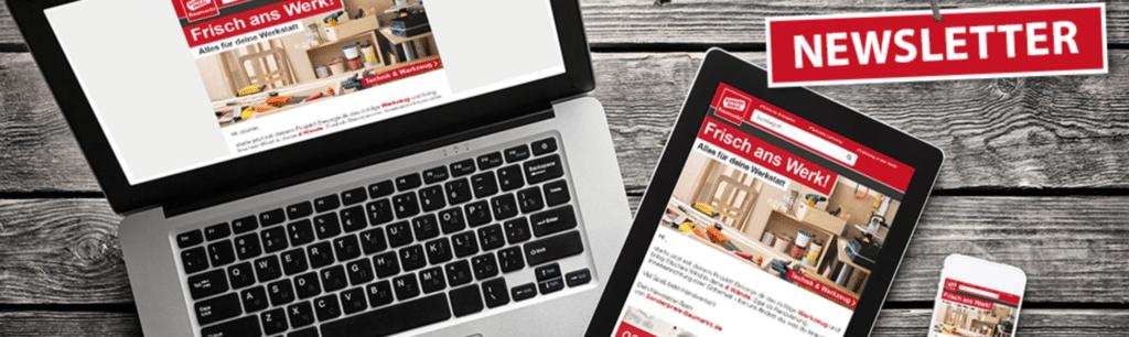 Erhalte Gutscheine und spare mit dem Sonderpreis-baumarkt.de Newsletter