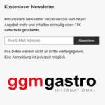 ggmgastro gutscheine Newletteranmeldung