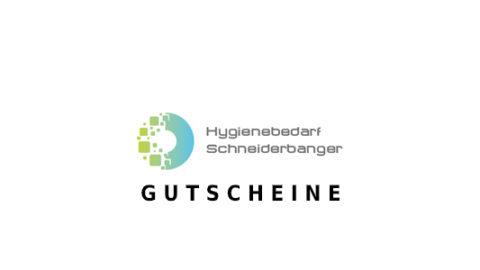Hygienebedarf Schneiderbanger Gutschein Logo Seite
