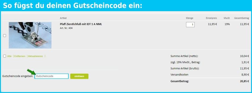 naehwelt24 Gutschein einfuegen und sparen