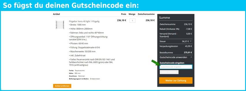 zaunkreisel-online Gutschein einfuegen und sparen